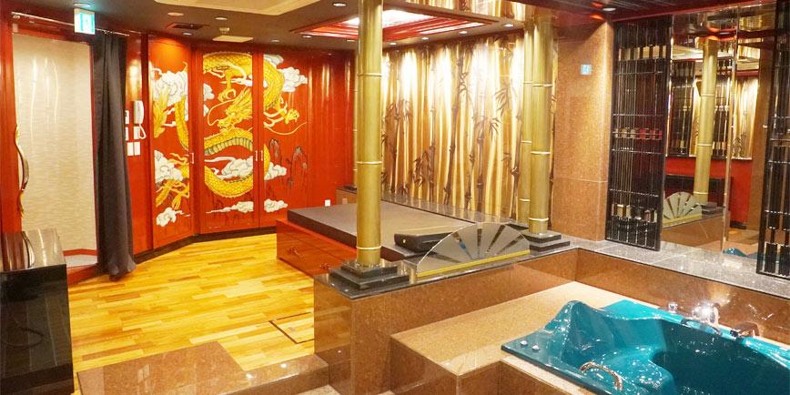 川崎高級ソープランド 金瓶梅 個室